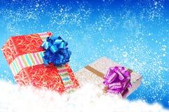 Christmas.Gift pudełka zdjęcia stock