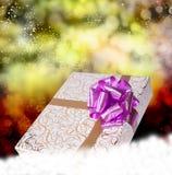 Christmas.Gift pudełko Obrazy Stock