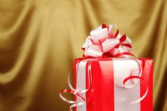 Christmas gift in a red box Stock Photography