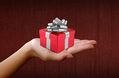 Christmas gift in red box Stock Photography