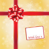 Christmas gift red & gold Royalty Free Stock Photo