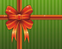 Christmas gift with red ribbon Royalty Free Stock Photo