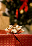 Christmas gift ribbon Stock Photo