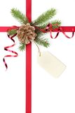Christmas gift ribbon Royalty Free Stock Photo
