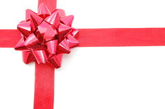 Christmas Gift with ribbon Royalty Free Stock Photos