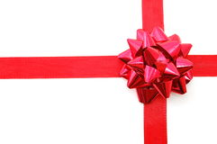 Christmas Gift with ribbon Royalty Free Stock Photography