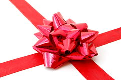 Christmas Gift with ribbon Royalty Free Stock Photo