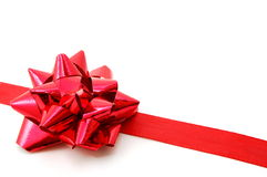 Christmas Gift with ribbon Stock Photography