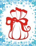 Christmas gift sack Stock Photography