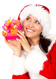 Christmas gift from santa Stock Image