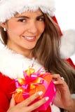 Christmas gift from santa Stock Photos