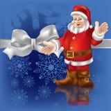 Christmas Gift Santa Claus On A Blue Royalty Free Stock Photos