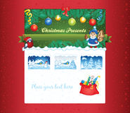 Christmas gift shop template Stock Images
