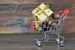 Christmas gift shopping Stock Image