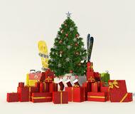 Christmas gift skiing trip Royalty Free Stock Image