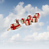 Christmas Gift Sled Stock Images