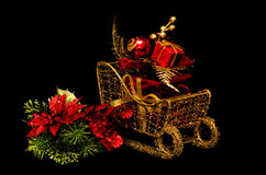 Christmas Gift on Sleigh Royalty Free Stock Photos