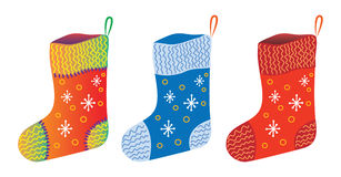 Christmas gift socks Stock Photo