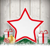 Christmas Gift Star Twigs Baubles Stock Photography