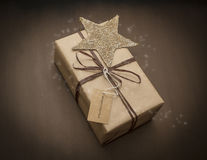 Christmas gift  with stars Royalty Free Stock Image