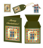 Christmas gift stationery Royalty Free Stock Images