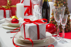 Christmas gift on the table Stock Photography