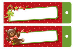 Christmas gift tag Royalty Free Stock Photos