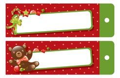 Christmas gift tag stock illustration