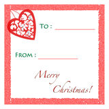 Christmas Gift Tag Stock Images