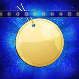 Christmas gift tag background circular Royalty Free Stock Photography