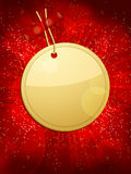 Christmas gift tag background circular red Royalty Free Stock Photography