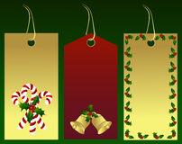 Christmas gift tags. A  illustration of gift tags with Christmas decoration Royalty Free Stock Images