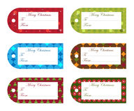 Christmas gift tags. Set of six gift tags for Christmas with space for your text,isolated on white background.EPS file available Royalty Free Stock Photo