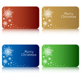 Christmas gift tags. Set of four gift tags for Christmas with space for your text,isolated on white background.EPS file available Stock Image