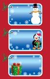 Christmas gift tags vector illustration