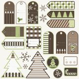 Christmas gift tags. Set od Christmas gift tags, vector Royalty Free Stock Photo