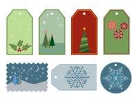 Christmas gift tags Stock Image