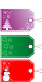 Christmas Gift Tags. Beautiful Christmas Gift Tags in Different Designs Royalty Free Stock Photos