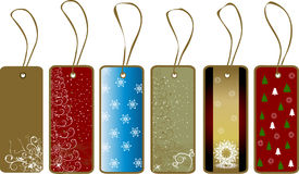 Christmas gift tags. Floral snowflakes winter vector Stock Photo