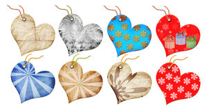 Free Christmas Gift Tags In The Form Of Heart. Royalty Free Stock Image - 6649216