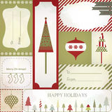 Christmas gift tags, labels and stickers. Stock Photo