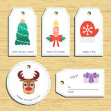 Christmas gift tags. Ready to use. Christmas greeting. Vector Royalty Free Stock Images