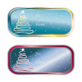 Christmas Gift Tags Set Royalty Free Stock Image