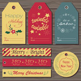 Christmas gift tags set. Royalty Free Stock Image