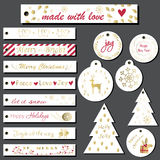 Christmas gift tags set. Royalty Free Stock Images