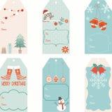 Christmas Gift Tags set Royalty Free Stock Image