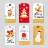 Christmas gift tags set. Royalty Free Stock Photo