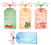 Christmas Gift Tags, vector Royalty Free Stock Photos