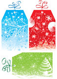 Christmas gift tags, vector illustration Stock Photo