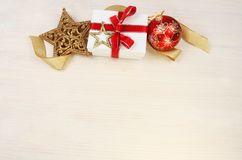 Christmas gift theme Royalty Free Stock Images
